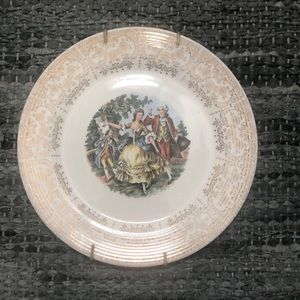 Vintage Plate with 22k gold